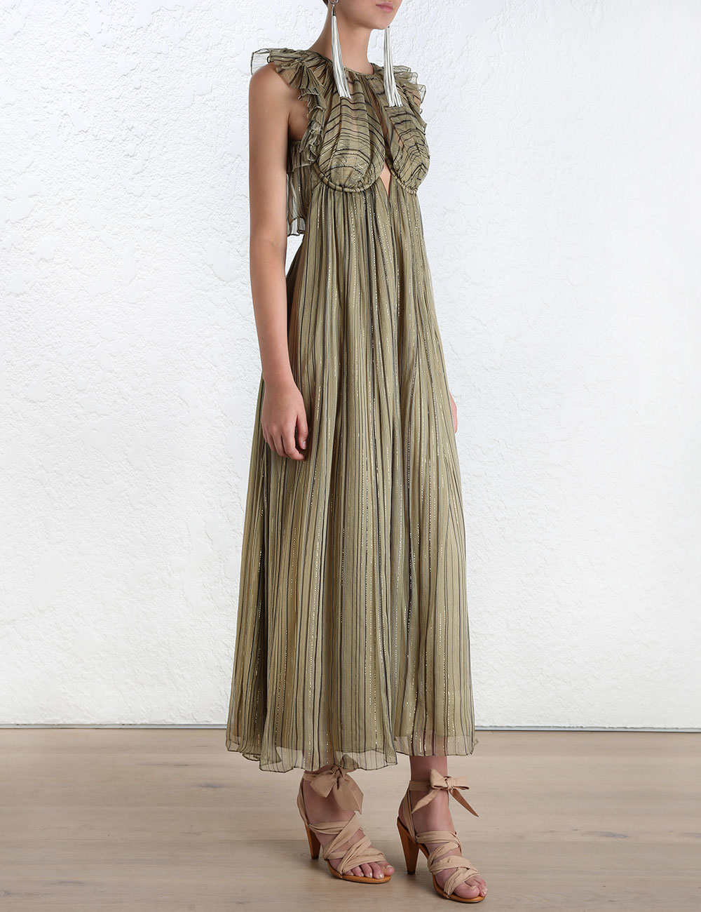 ef6f7928e3f Lyst - Zimmermann Empire Heiress Jumpsuit in Green