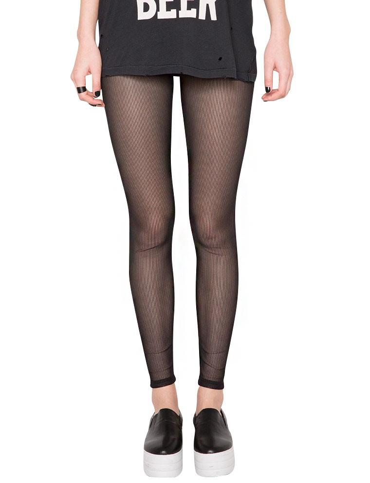 Lyst - Pixie Market Sheer Mesh Leggings in Black