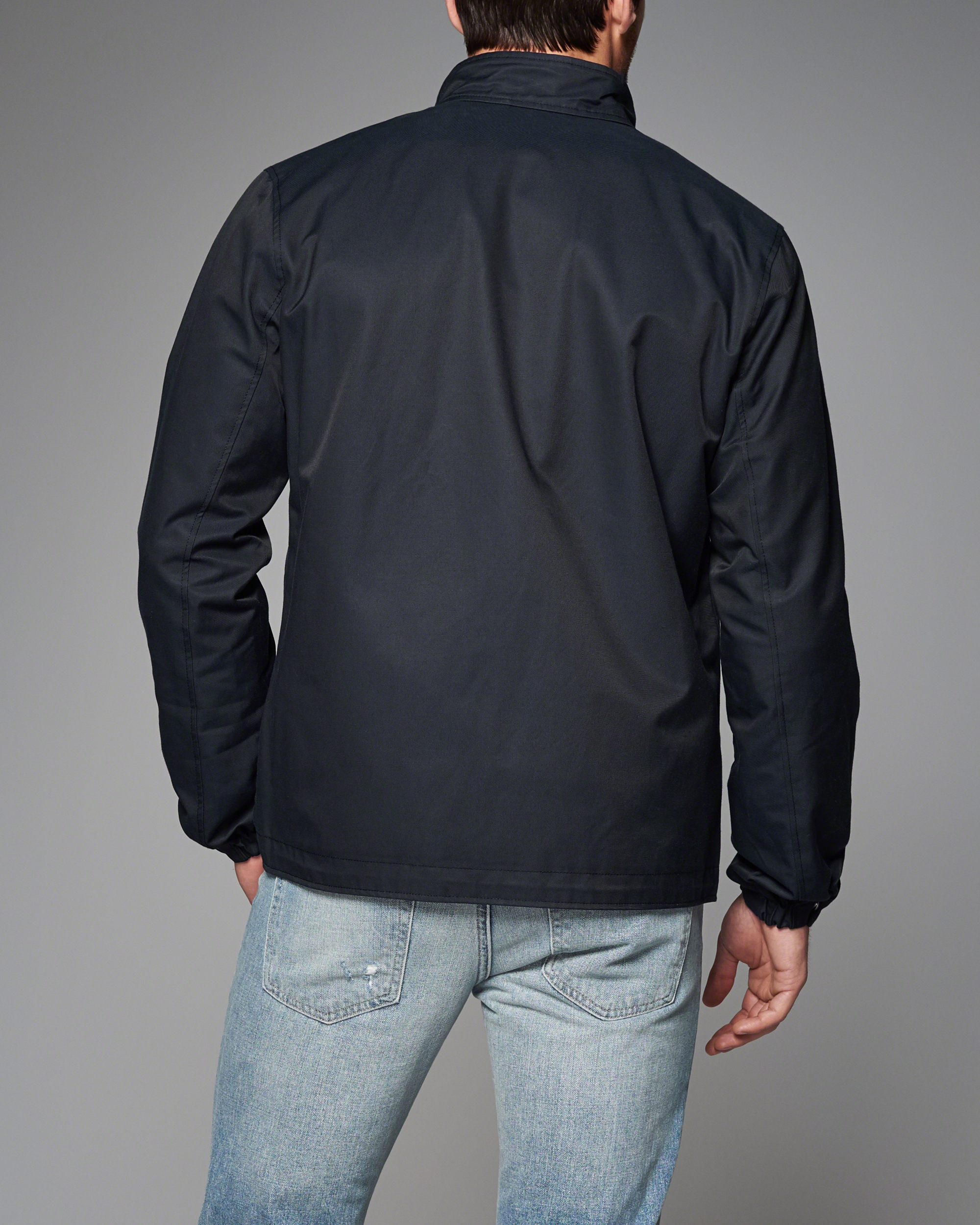 Abercrombie & Fitch Harrington Jacket In Black For Men
