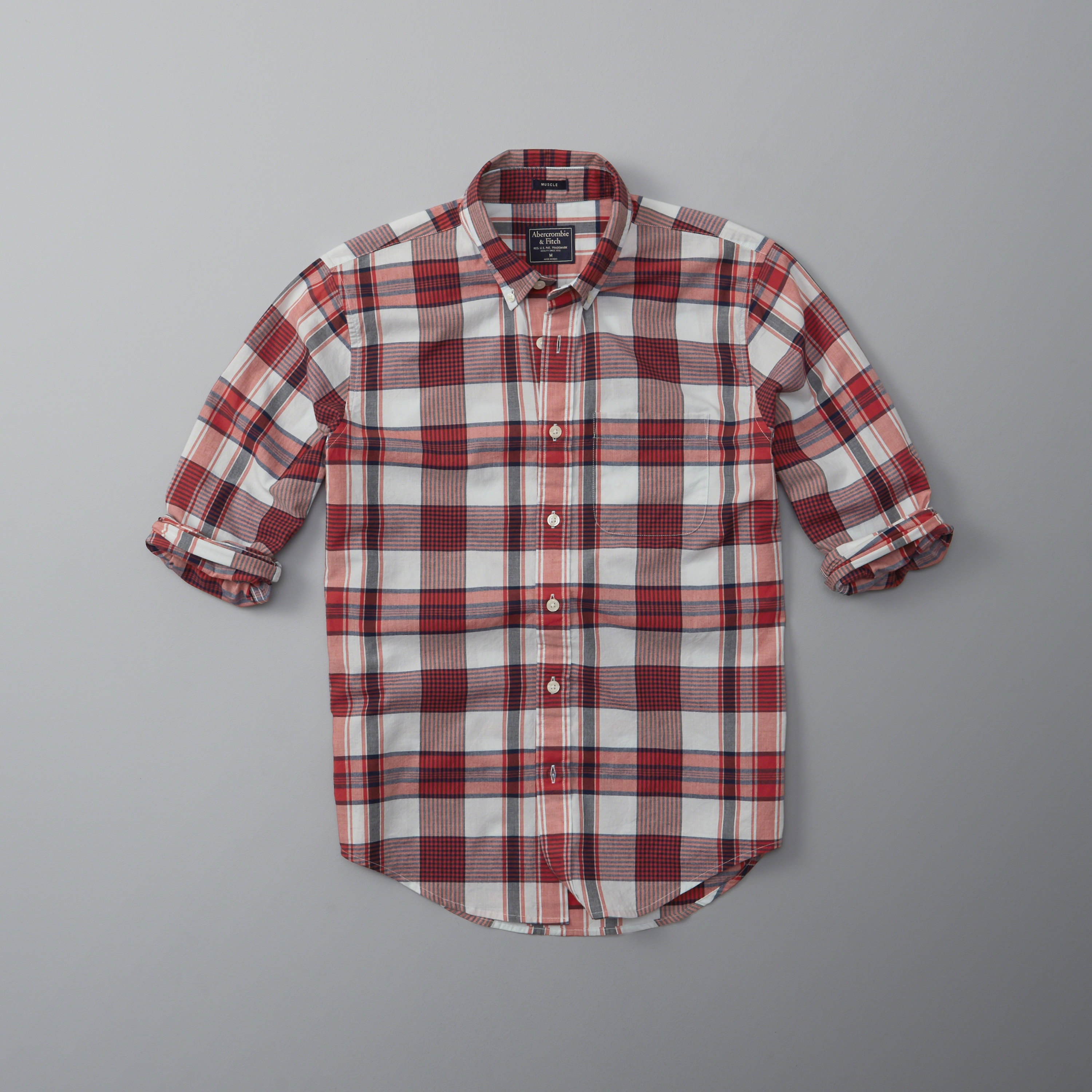 lyst abercrombie amp fitch plaid madras shirt for men
