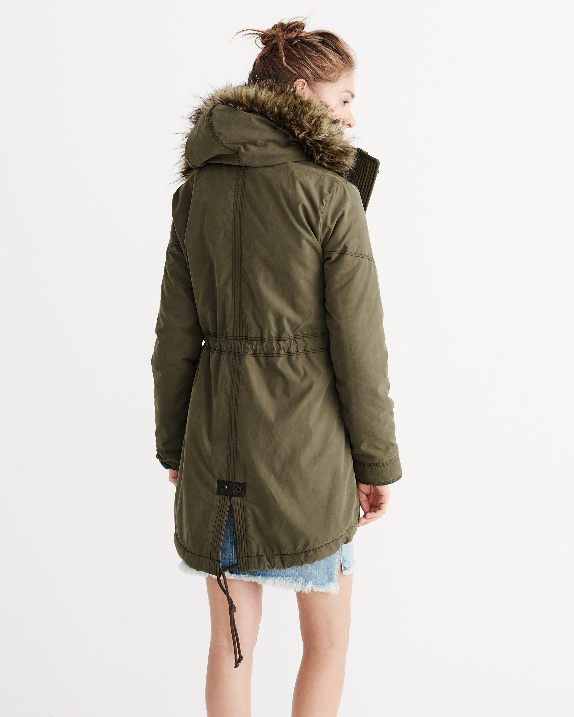 Abercrombie & fitch Sherpa-lined Military Parka | Lyst