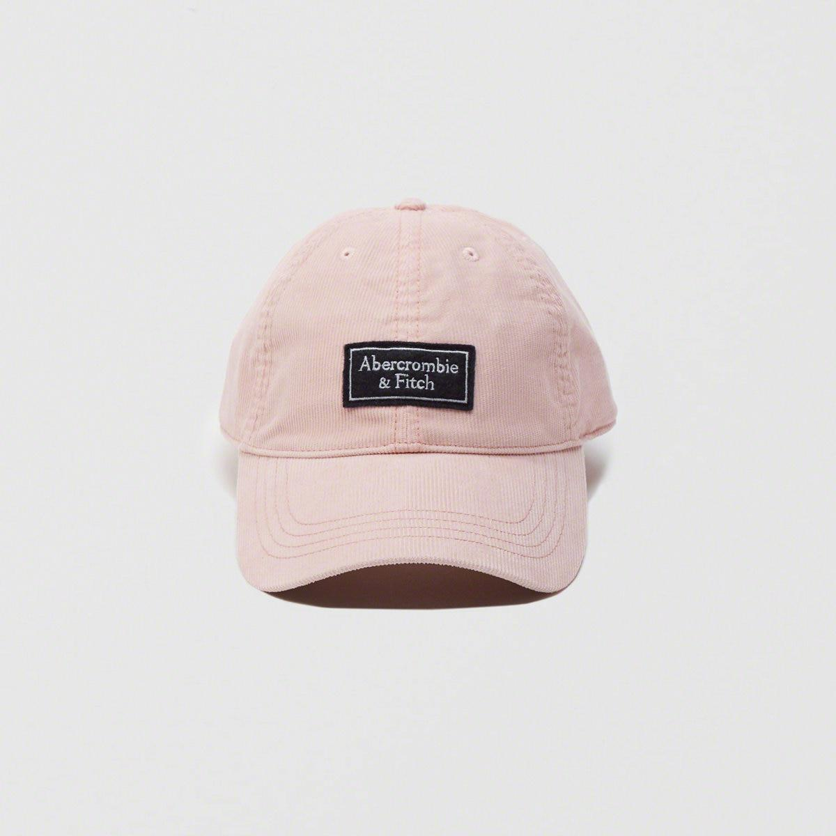 87f6539a369ab Lyst - Abercrombie   Fitch Corduroy Logo Cap in Pink for Men