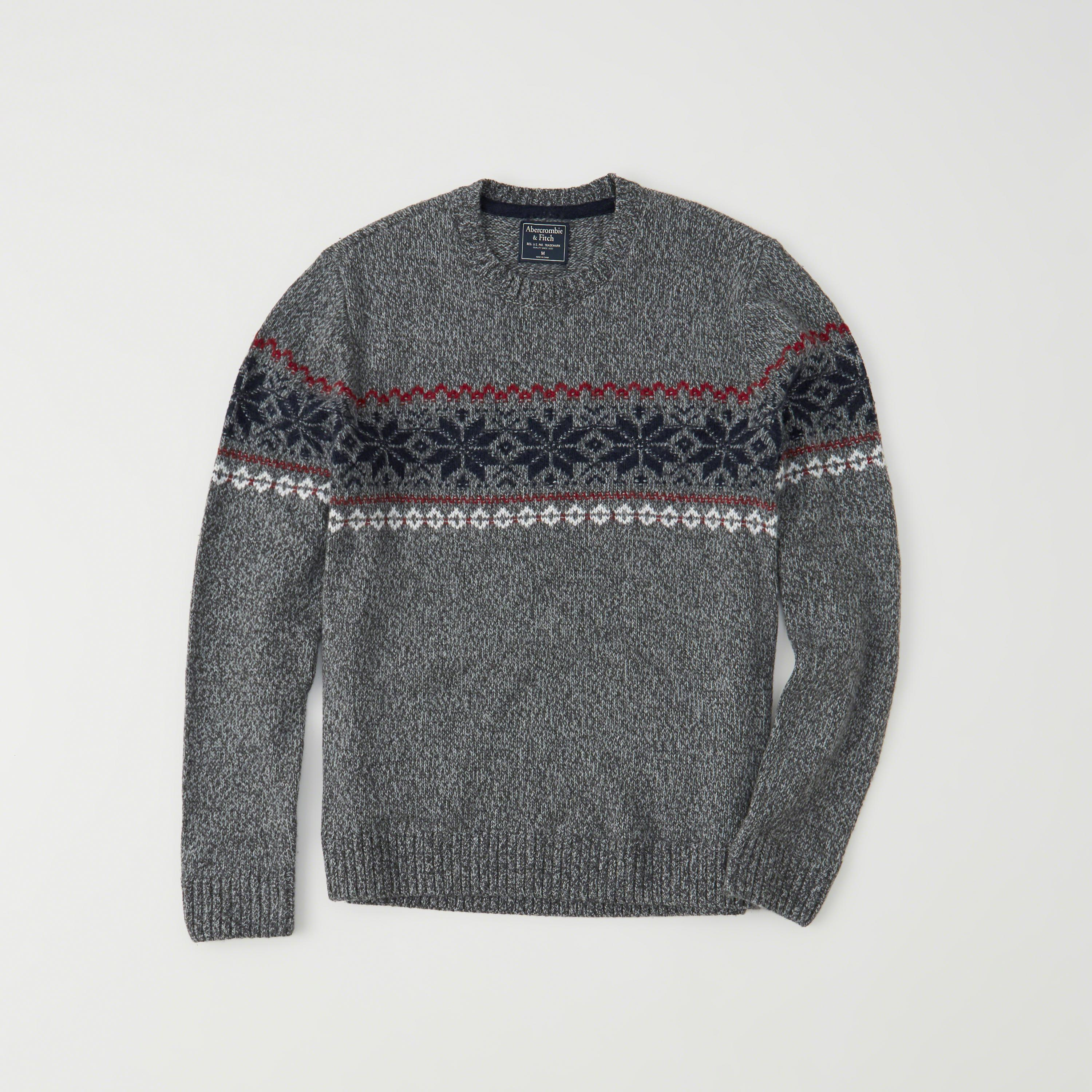 Abercrombie & fitch Fair Isle Sweater Exchange Color / Size in ...