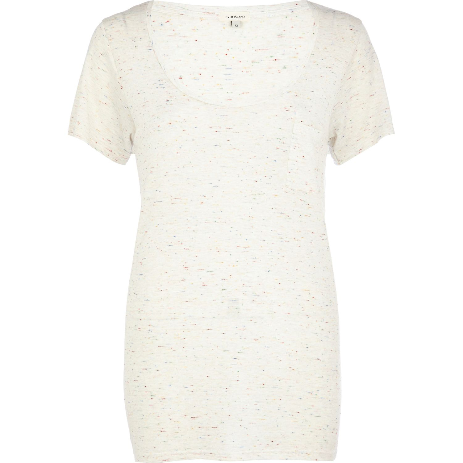 Lyst River Island White Neppy Low Scoop Tshirt In White
