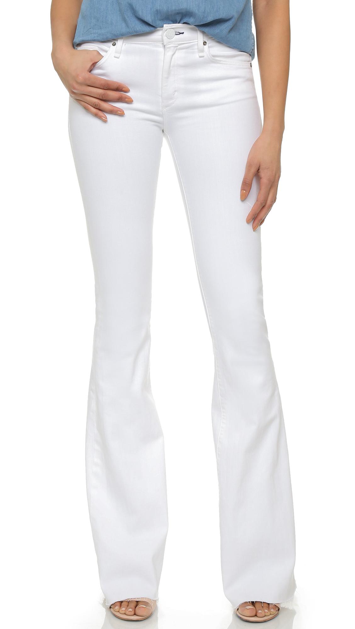 Mcguire denim Majorelle Flare Jeans in White | Lyst