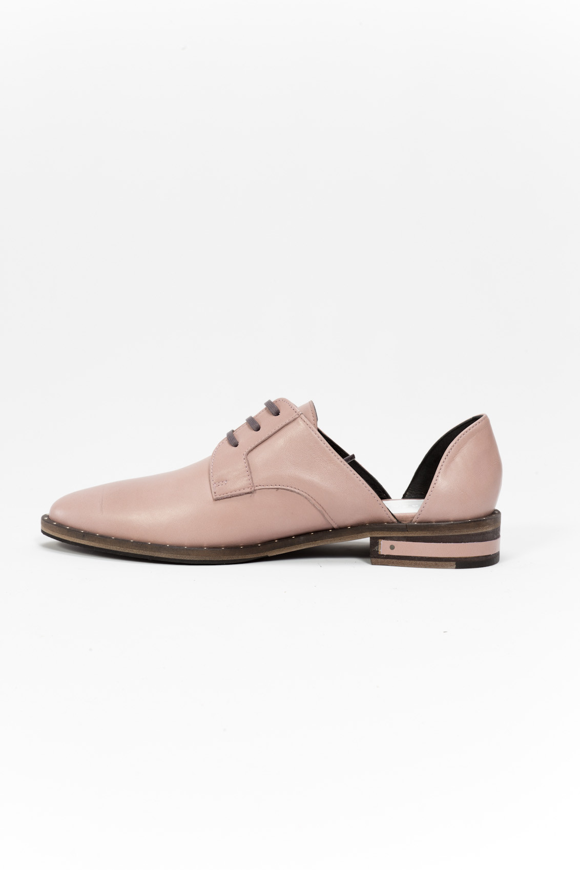 Fru0113da Salvador Wit Leather Oxford Shoes In Pink | Lyst