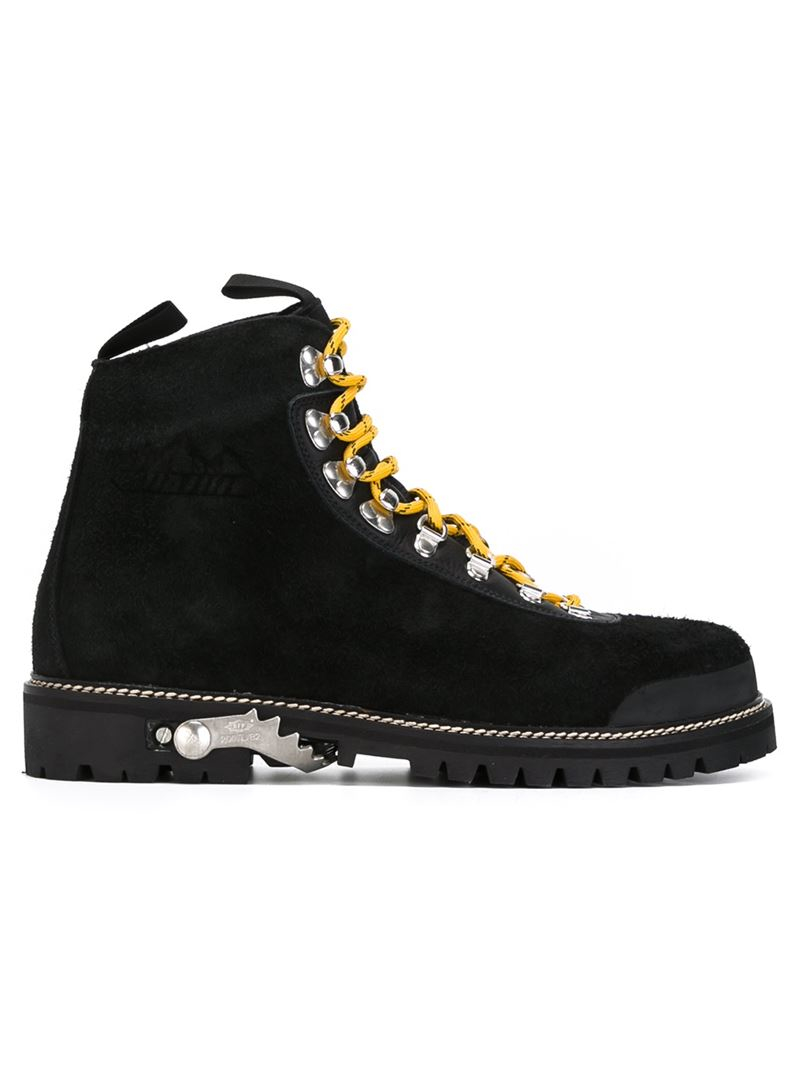 204f039e24db Lyst - Off-White c o Virgil Abloh Classic Climbing Boots in Black ...