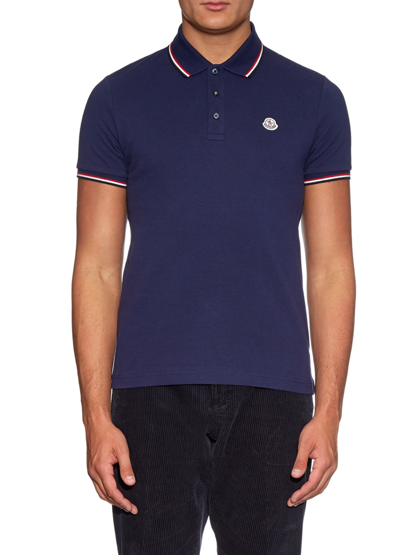 dark blue moncler polo
