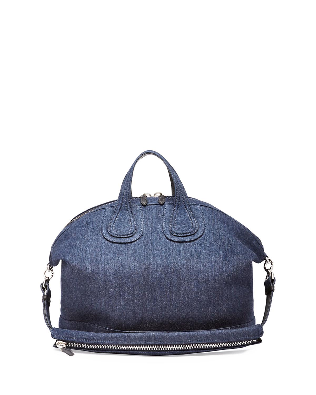 Givenchy Nightingale Denim Satchel Bag in Blue | Lyst