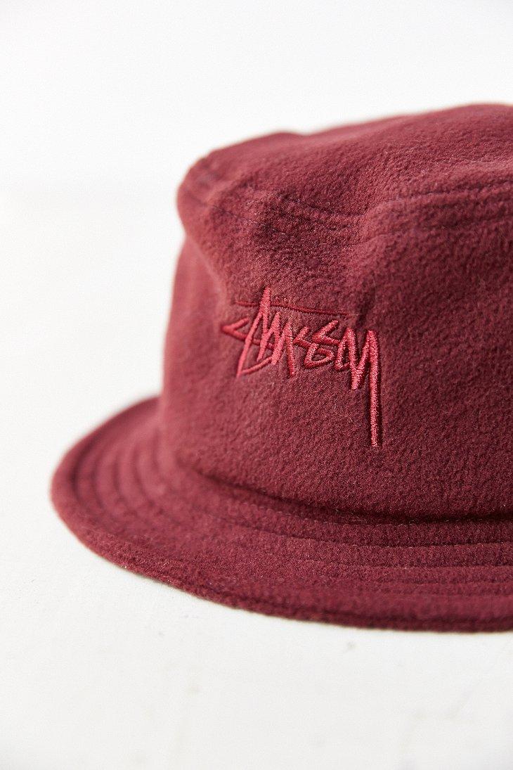 58f972c3836 Lyst - Stussy X Uo Polar Fleece Bucket Hat in Purple