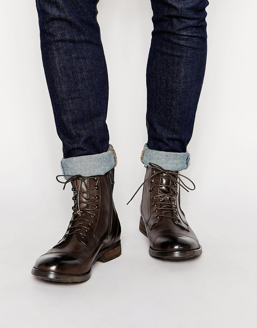 Diesel D-kallien Boots in Brown for Men | Lyst