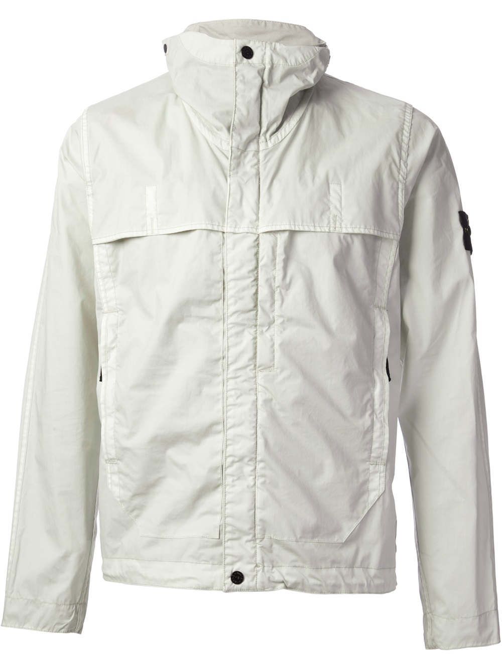 stone island windbreaker jacket in white for men lyst. Black Bedroom Furniture Sets. Home Design Ideas