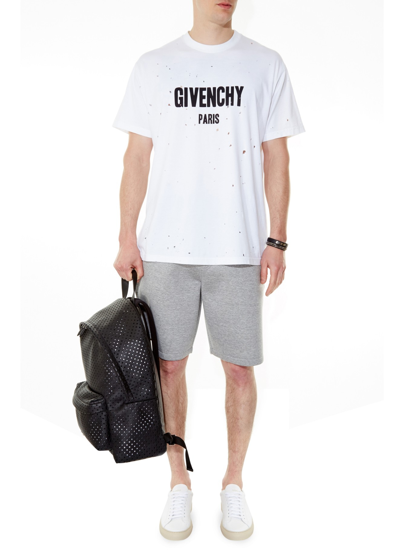 Lyst Givenchy Columbian Fit Distressed T Shirt In White