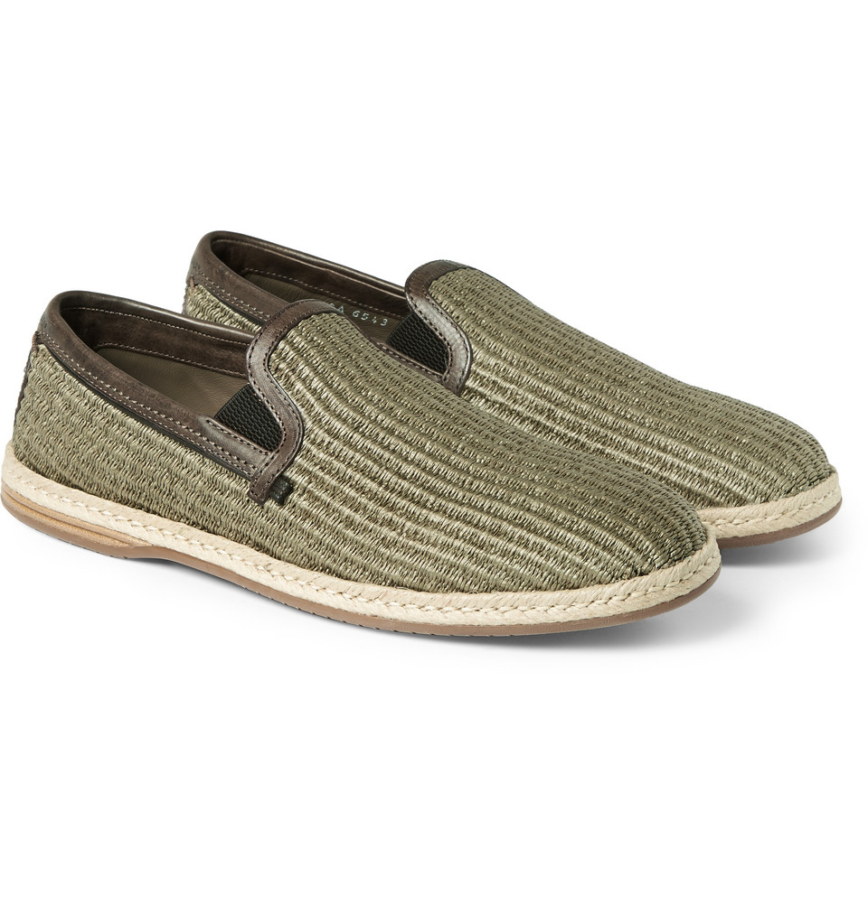 Dolce & Gabbana Leather Braided Espadrilles cheap sale 2014 newest nicekicks cheap price official site cheap price purchase sale online cheap sale amazon VFgtp