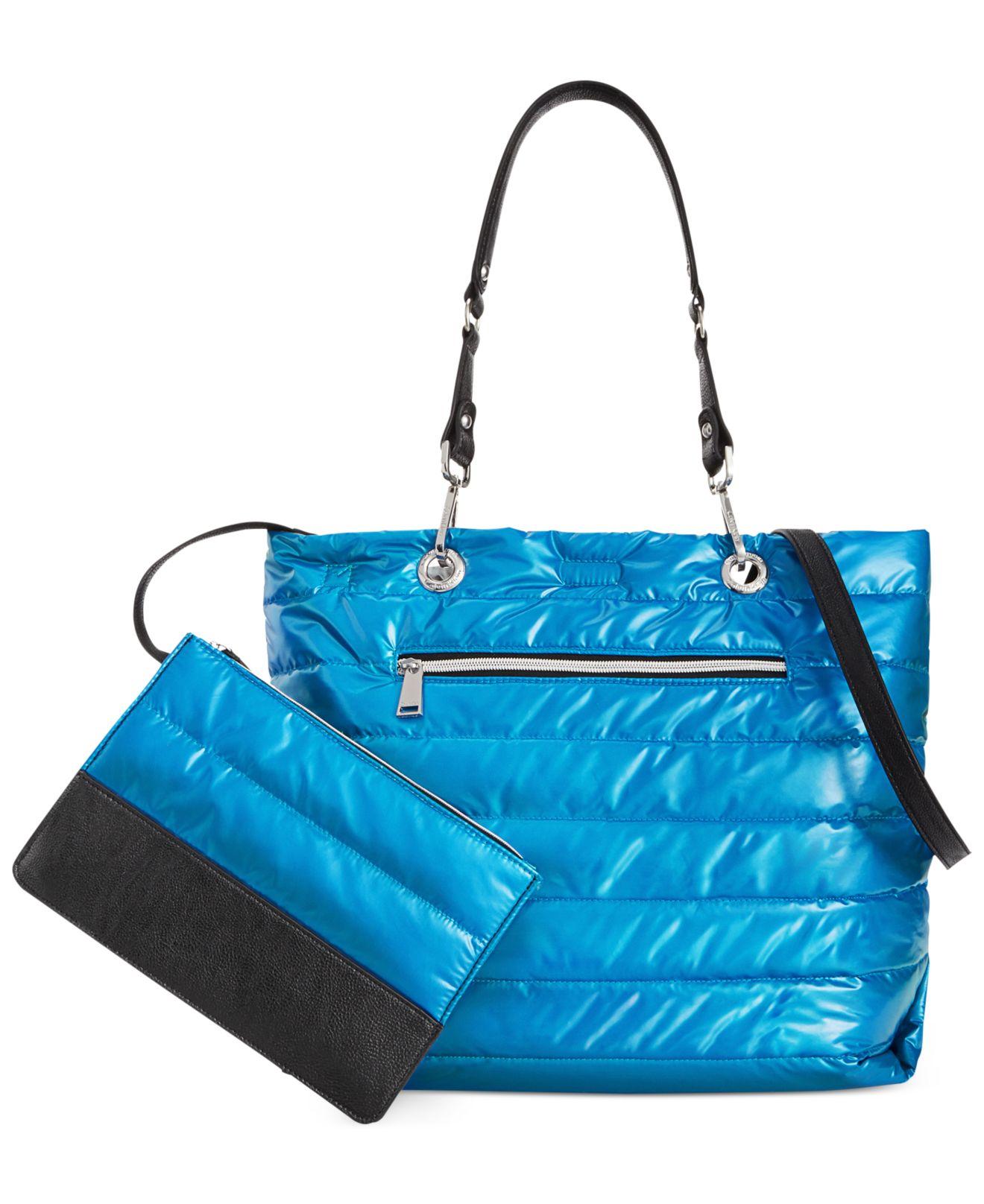 Calvin Klein Cire Reversible Extra Large Nylon Chain Tote