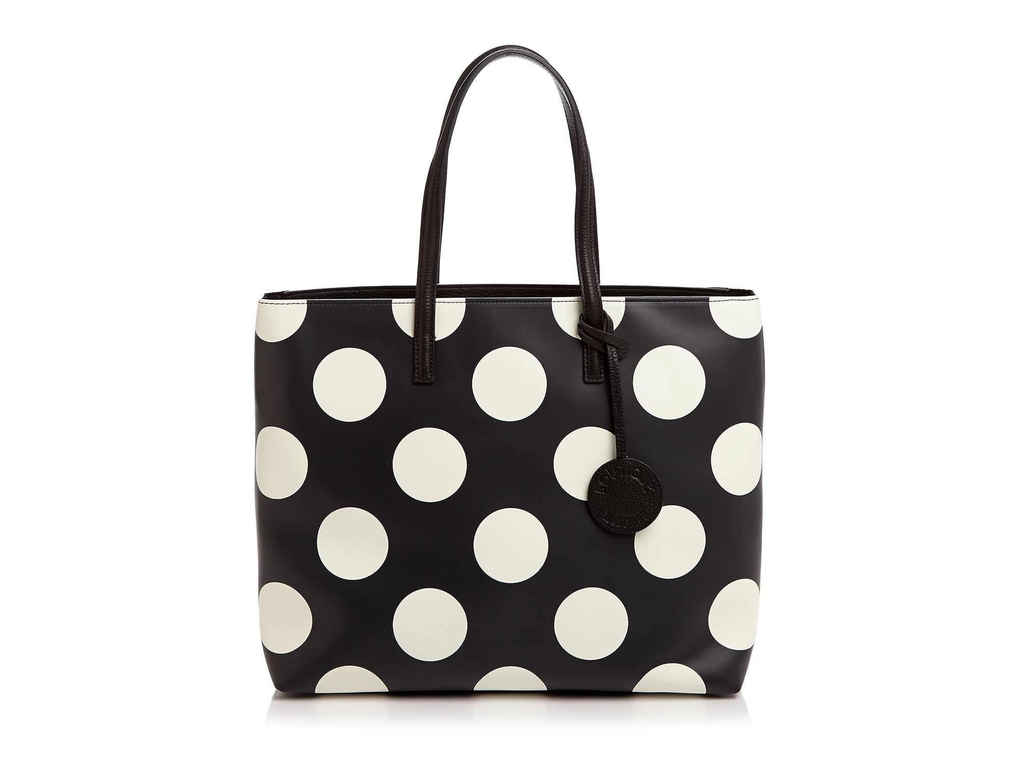 Lyst Boutique Moschino Large Polka Dot Tote In Black