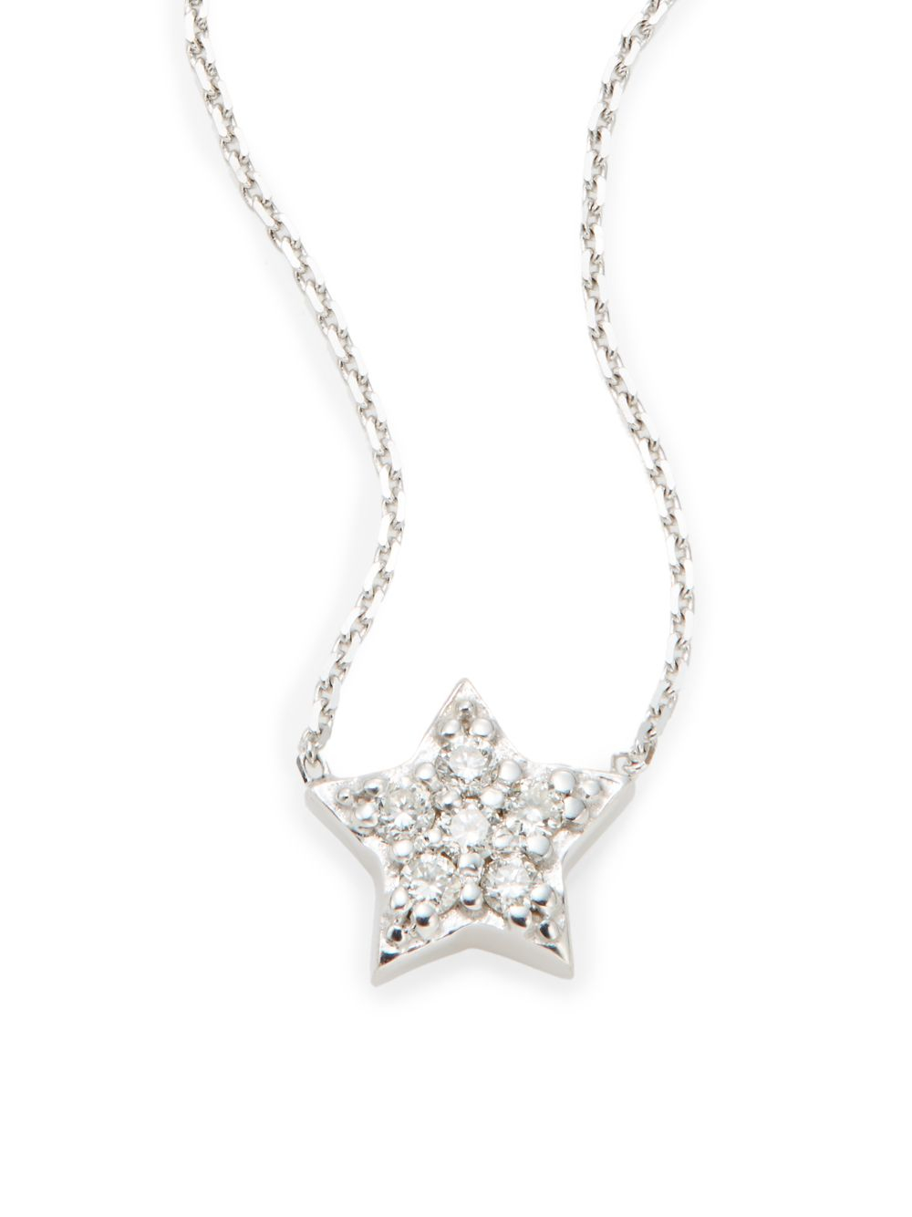 Lyst kc designs diamond 14k white gold star pendant necklace in gallery aloadofball Choice Image