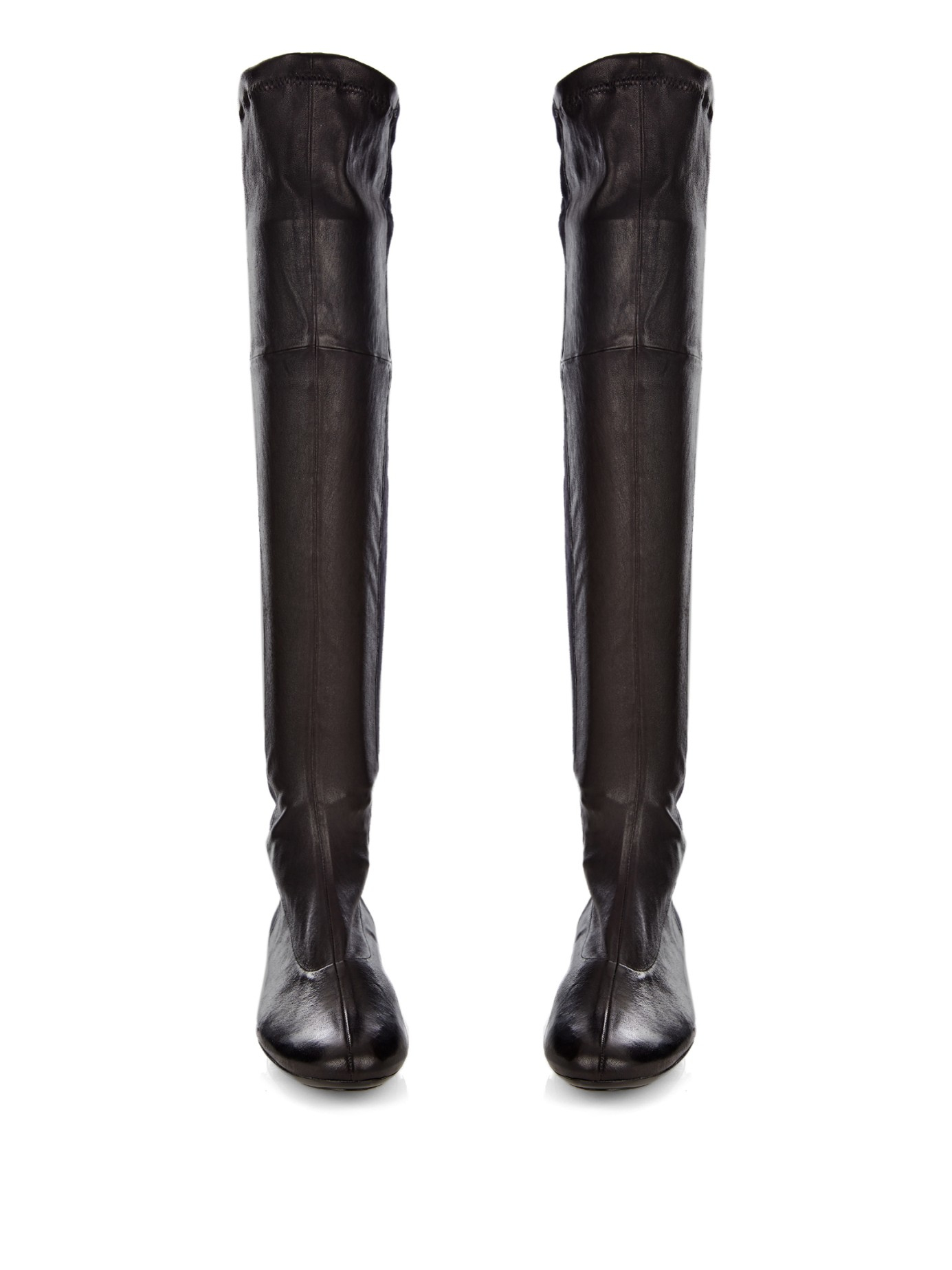 Robert Clergerie Leather Knee Boots wholesale price sale online outlet order clearance best seller MdtA9A2