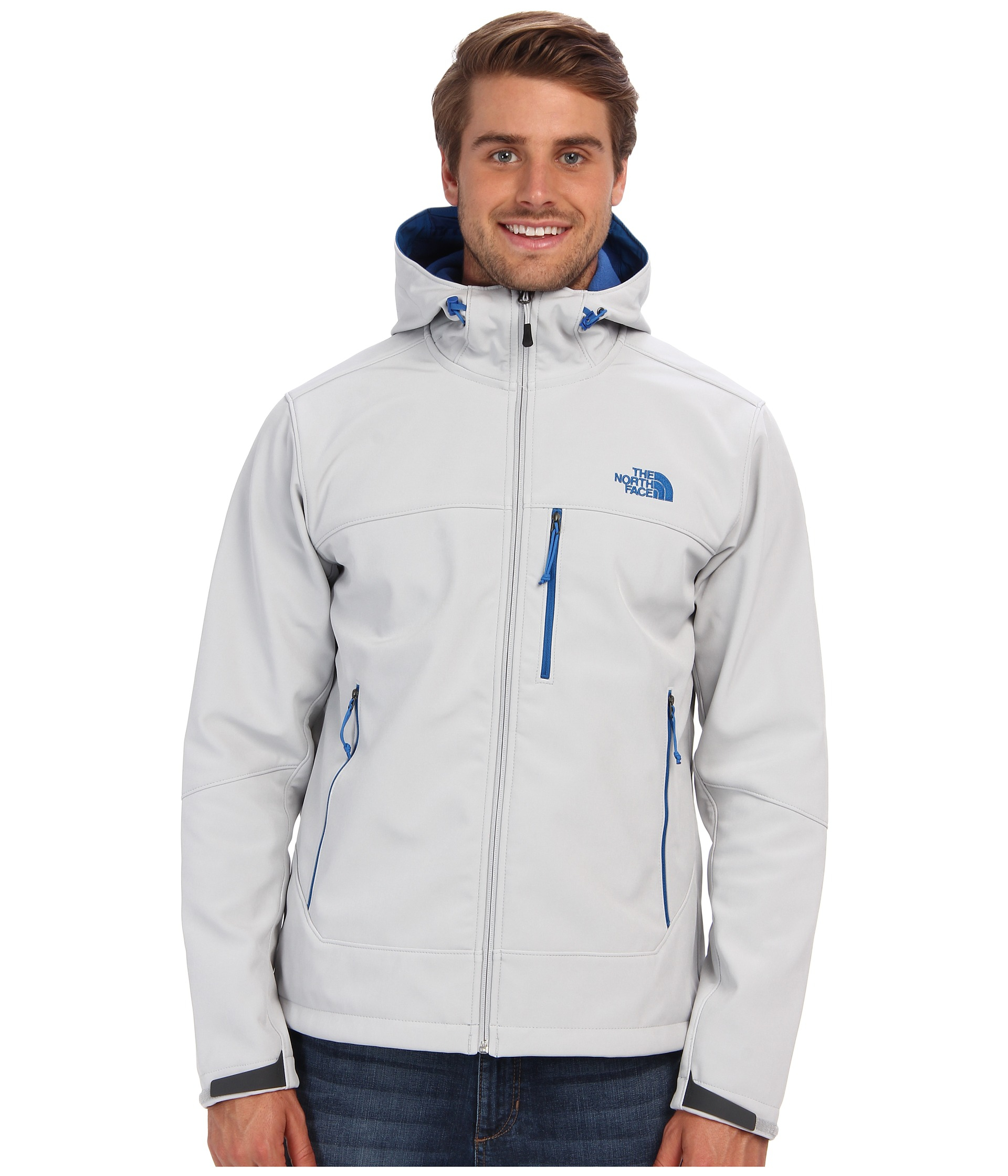dcf500e5caee authentic lyst the north face apex bionic hoodie in gray for men 1604c 20388