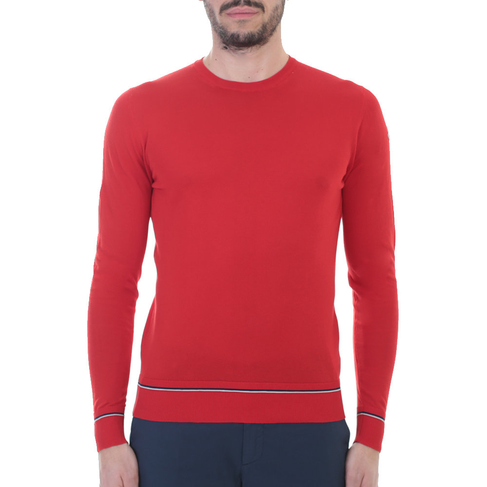 Moncler Red Cotton Sweater in Red for Men | Lyst