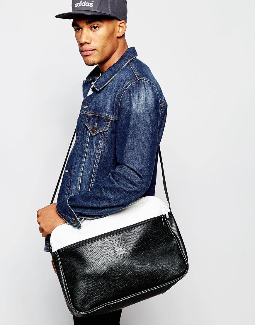 58af43e768 Lyst - adidas Originals Snake Messenger Bag in Black for Men