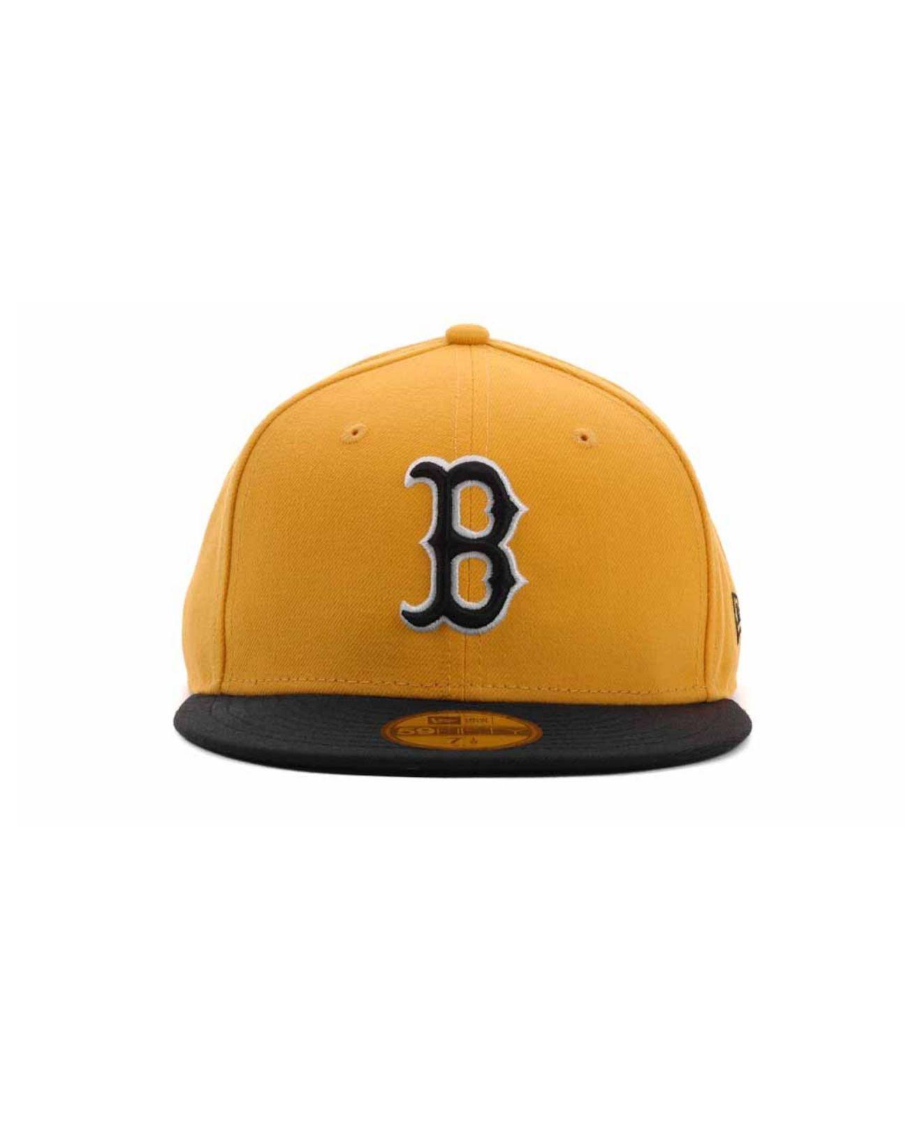 timeless design cf98e ed959 ... ireland lyst ktz boston red sox 2 tone 59fifty cap in yellow for men  df85f c03d9 ...