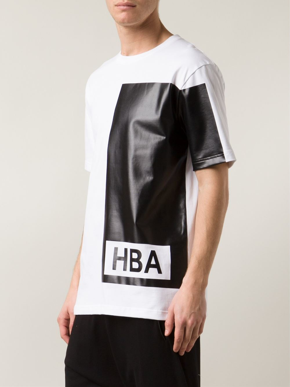 new product 23b97 d28a1 Hood By Air  Illusion  Colour Block T-Shirt in White for Men - Lyst