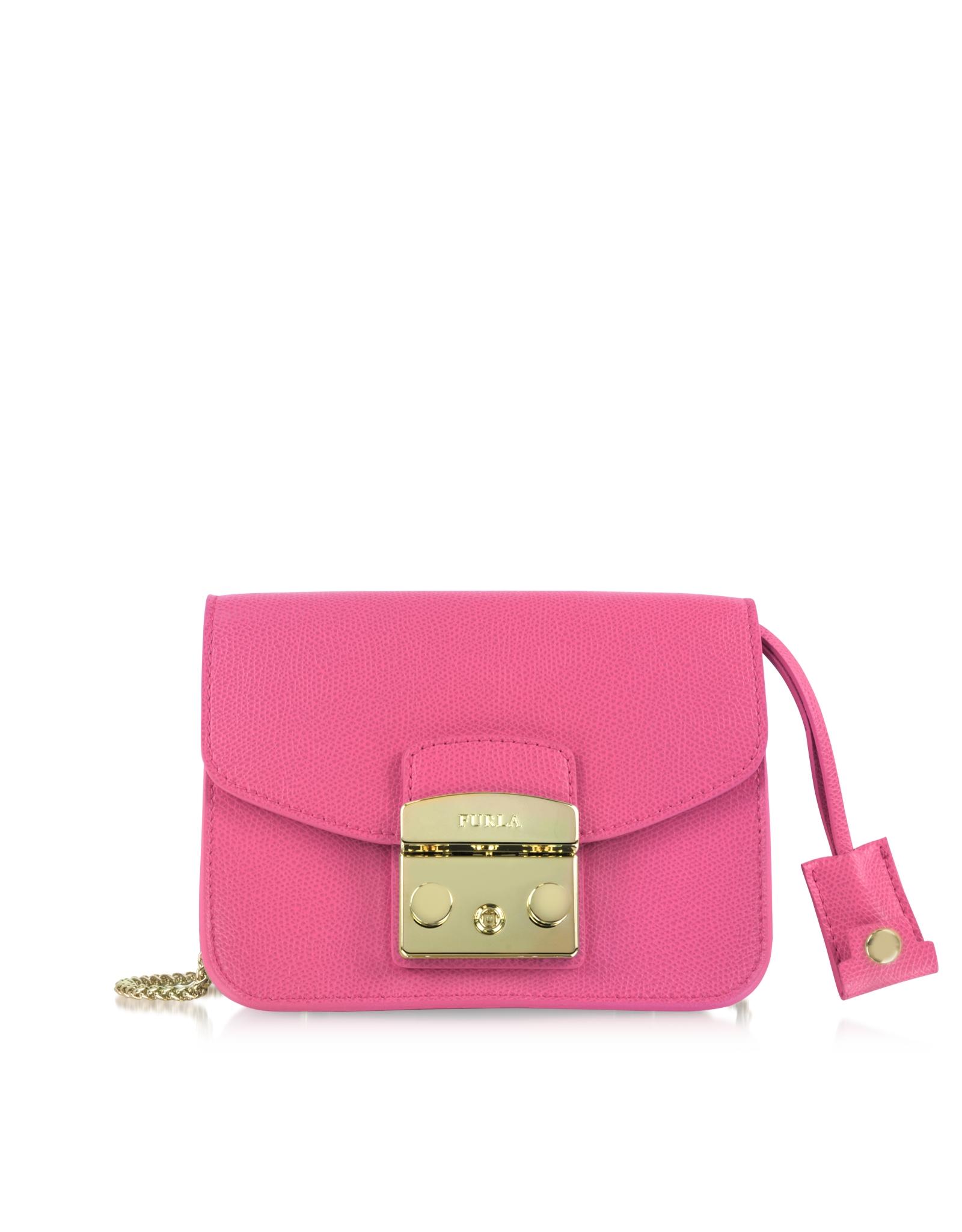furla metropolis mini crossbody bag in pink lyst. Black Bedroom Furniture Sets. Home Design Ideas