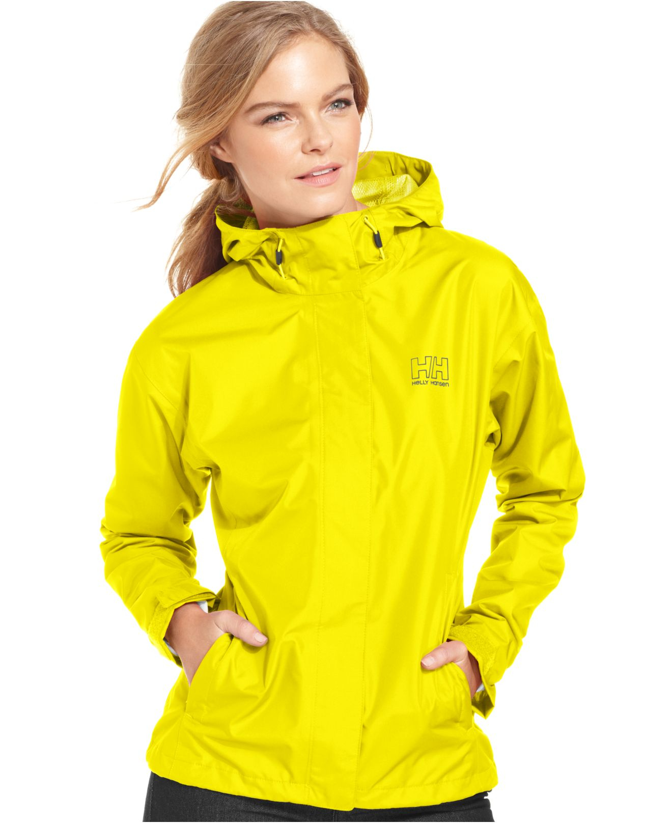 468c1c69c95 Lyst helly hansen seven hooded rain jacket in yellow jpg 1320x1616 Helly  hansen raincoats for women