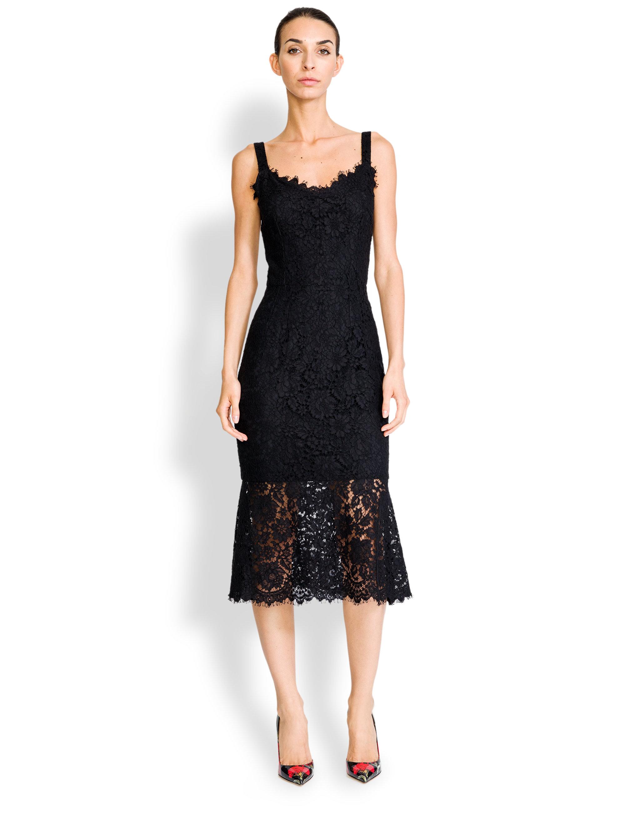 Dolce &amp- gabbana Lace Corset Dress in Black - Lyst