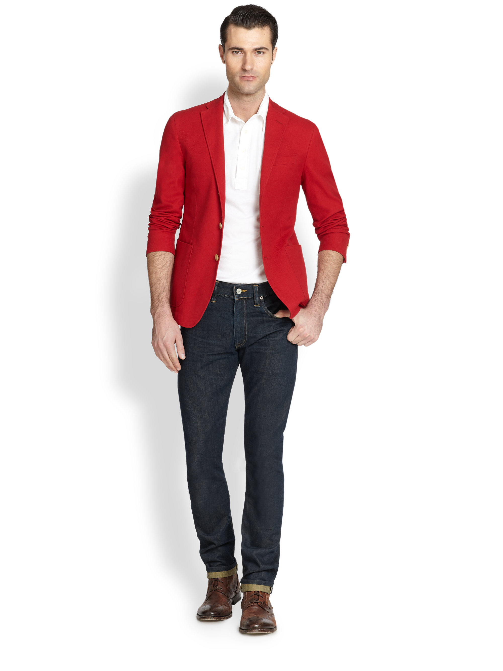 Polo ralph lauren Yale Sport Coat in Red for Men | Lyst