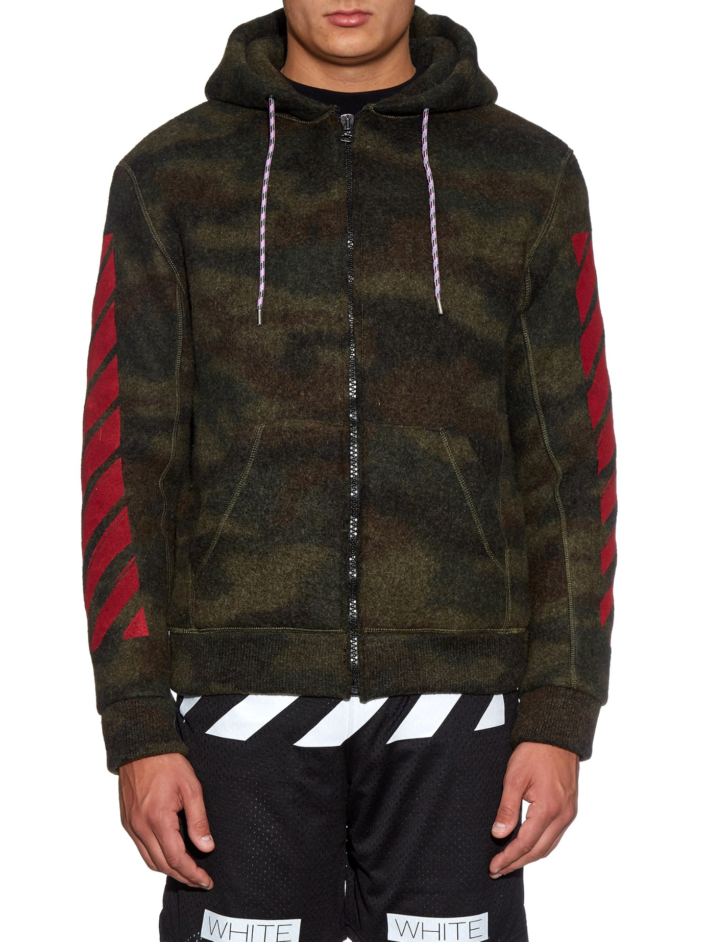 Lyst Off White Co Virgil Abloh Camouflage Print Felt Hooded
