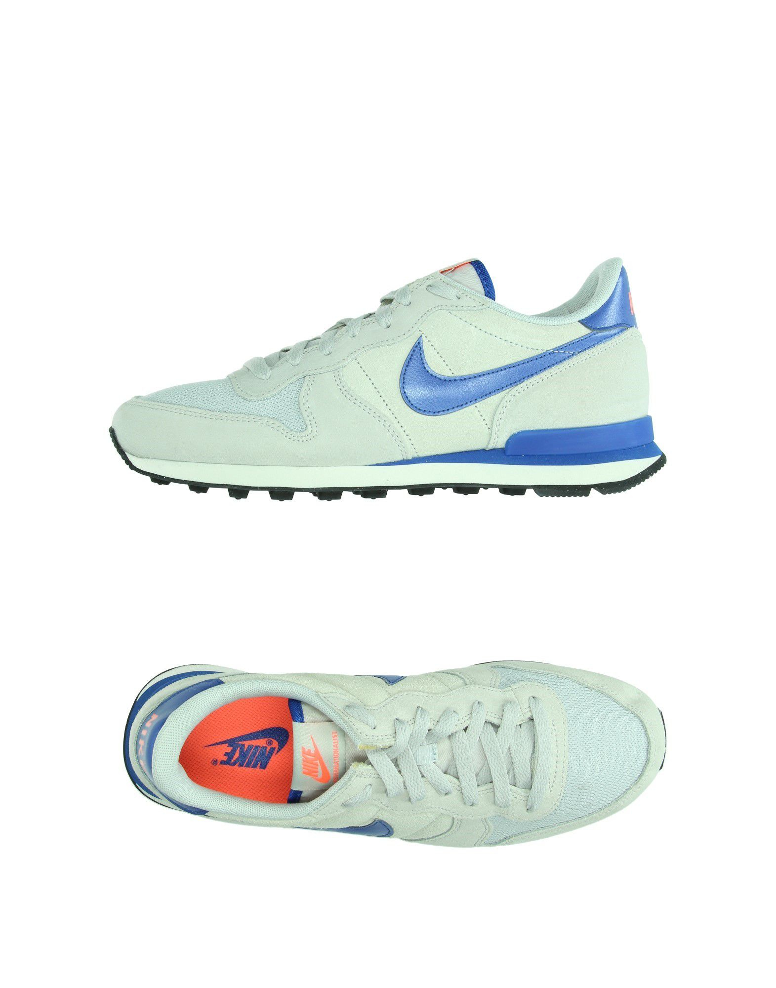 nike low tops trainers in gray light grey lyst
