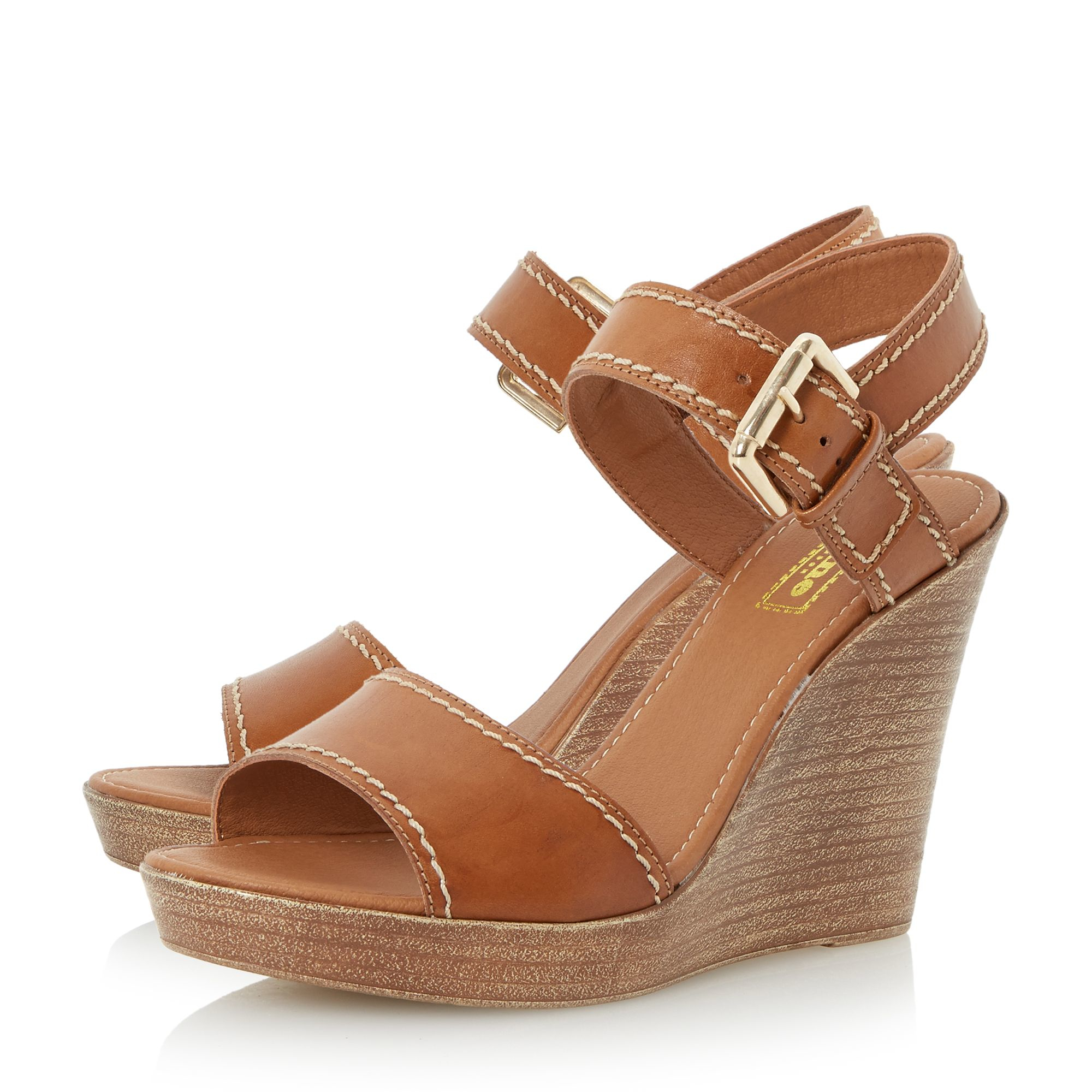 dune kamella stab stitch wedge shoes in multicolor