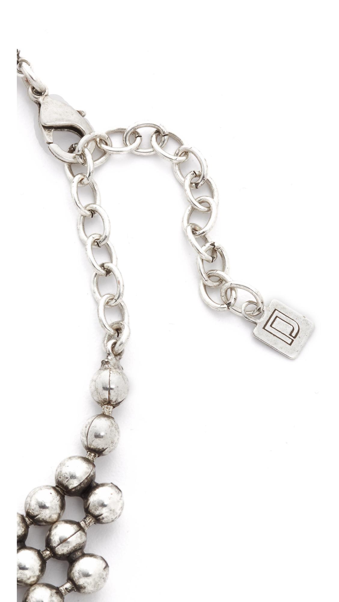 Lyst Dannijo Elizabeth Necklace In Metallic