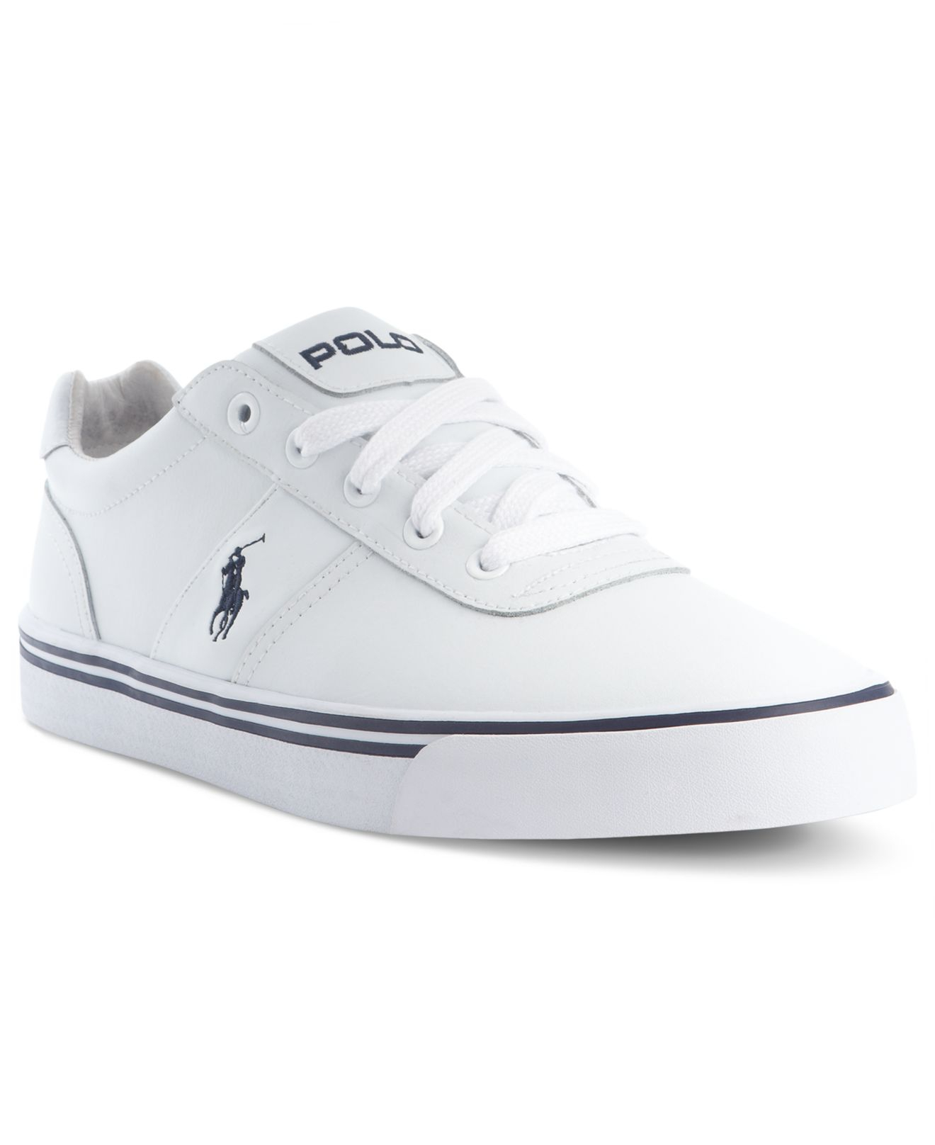 Lyst Polo Ralph Lauren Hanford Leather Sneakers In White