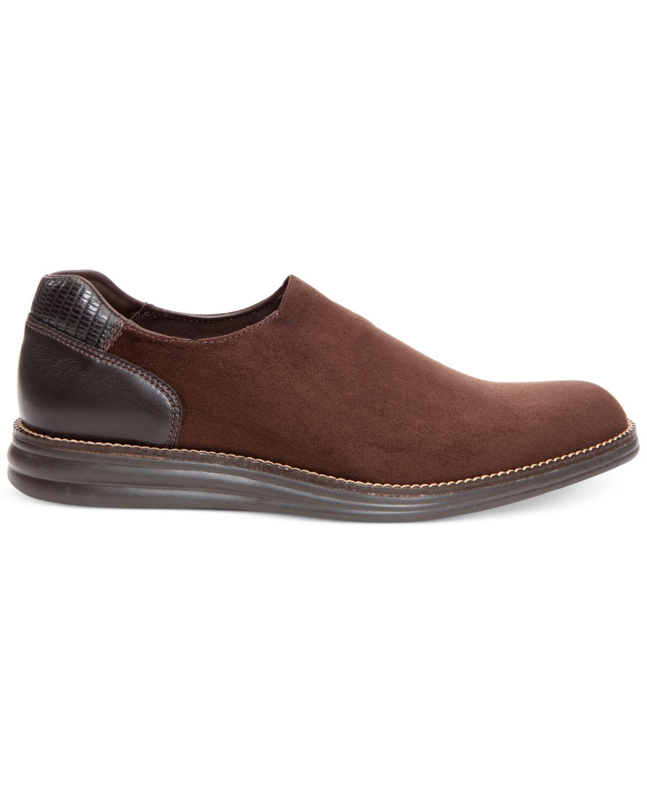 donald j pliner erling casual slip on shoes in brown for