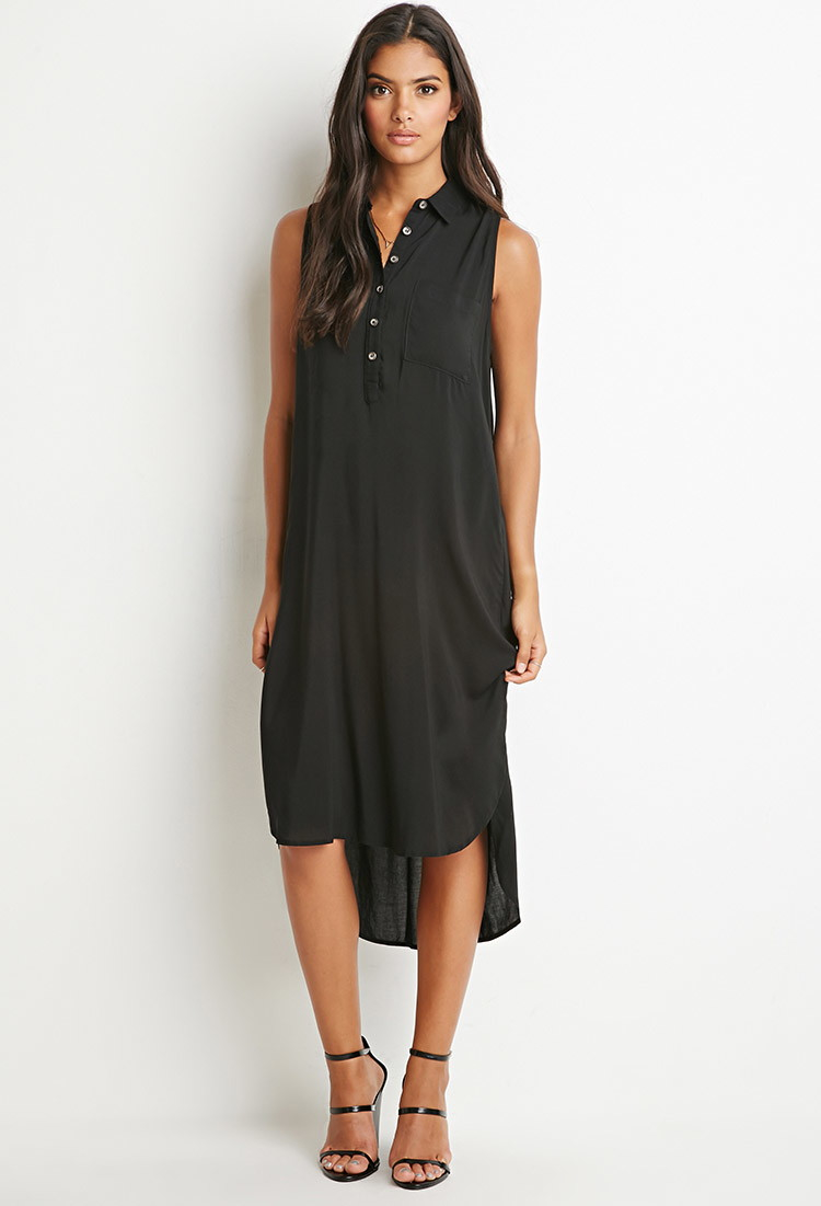 Forever 21 midi shirt dress you 39 ve been added to the for Midi shirt dress black