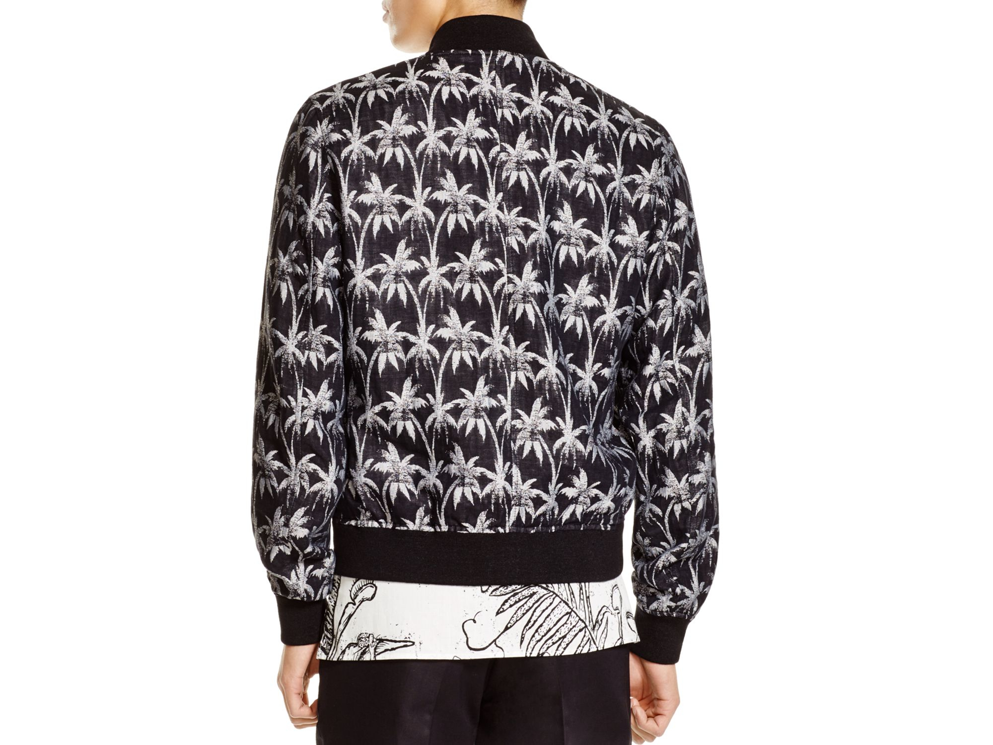 3c8a1f0d25185 Lyst - PS by Paul Smith Palm Print Bomber Jacket in Black for Men