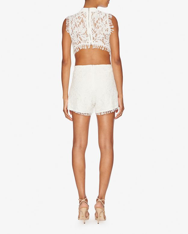 7097a6bc19f0 Lyst - Alexis Exclusive Chelsea Lace Romper in White