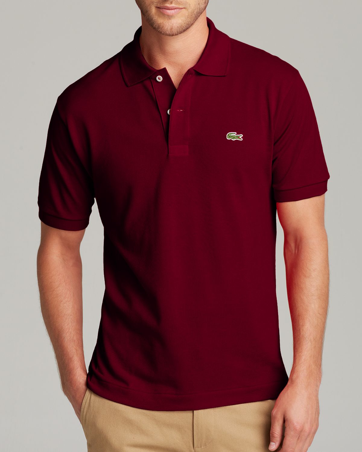 1a33bca04e4b2 Lyst - Lacoste Short Sleeve Piqué Polo Shirt - Classic Fit in Purple ...
