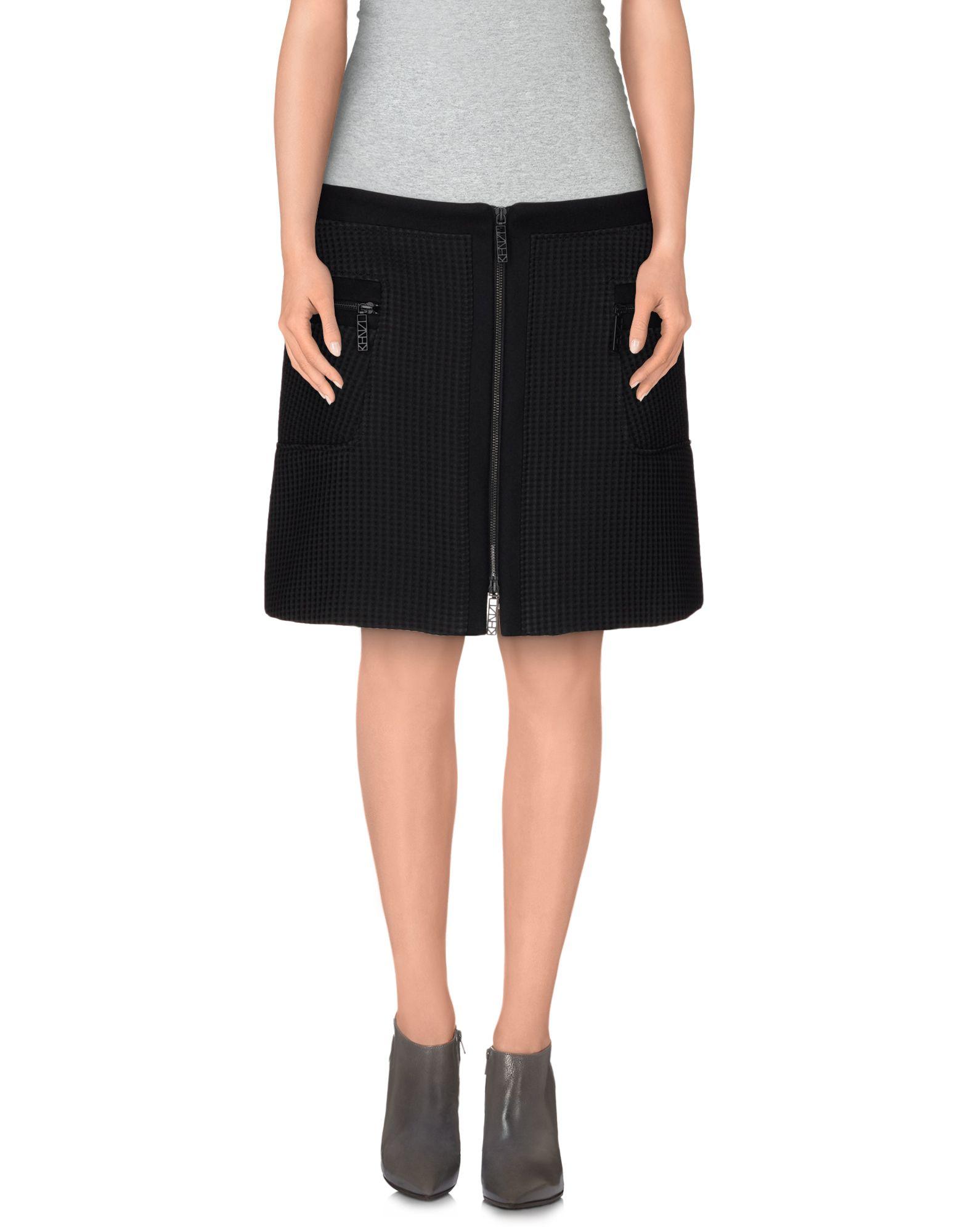 kenzo mini skirt in black save 70 lyst