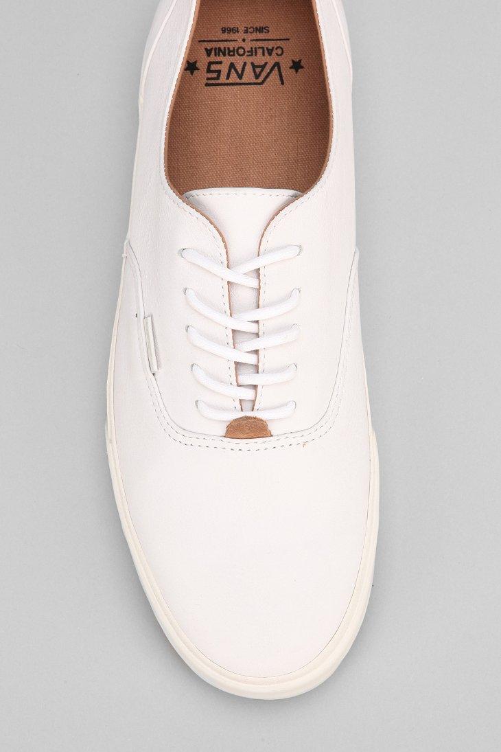5ec20a3e034447 Lyst - Vans Era Decon California Nappa Leather Mens Sneaker in White ...