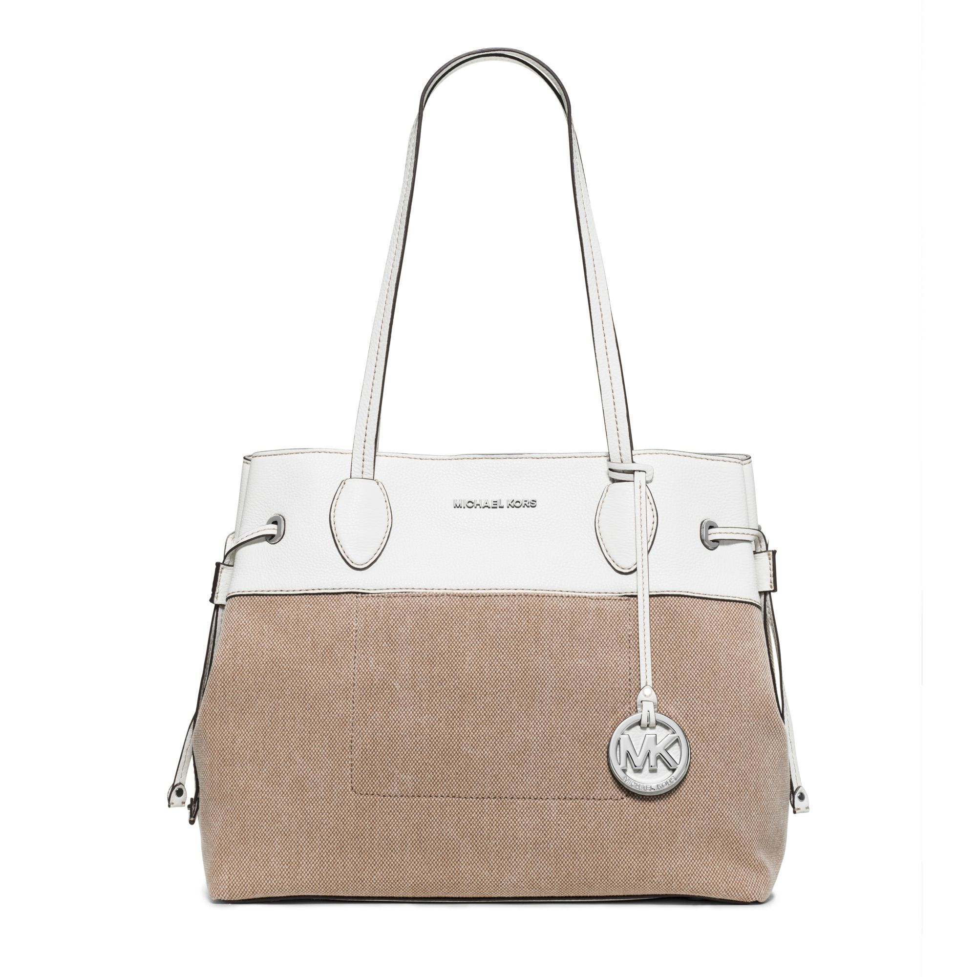 dc11affe413e Michael Kors Marina Large Washed-canvas Tote in Brown - Lyst