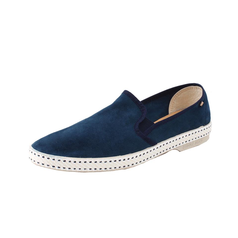 Rivieras Sultan 10 Suede Loafer In Blue For Men Marine