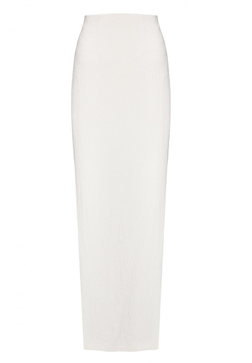 Alice   olivia Misha Fitted Maxi Skirt With Side Slits in Natural ...