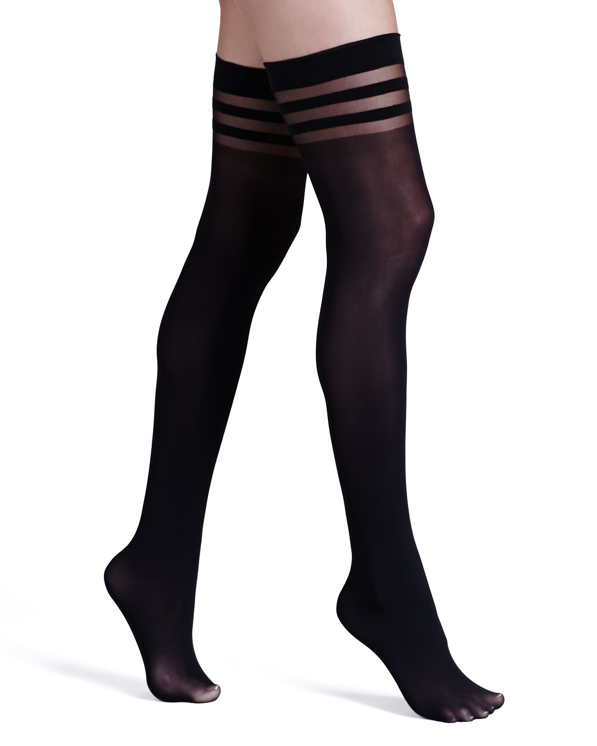 8d1ececa1 Lyst - Alice + Olivia Opaque Thigh-high Stockings By Pretty Polly in ...
