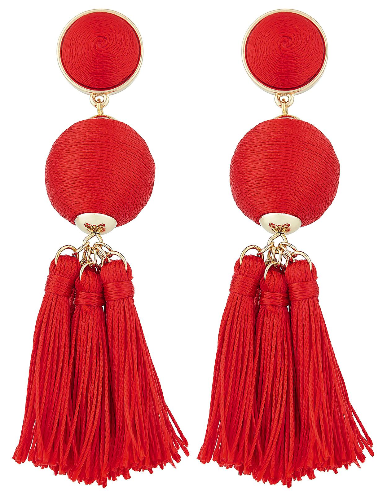 Accessorize Red Block Colour Tel Earrings Lyst View Fullscreen