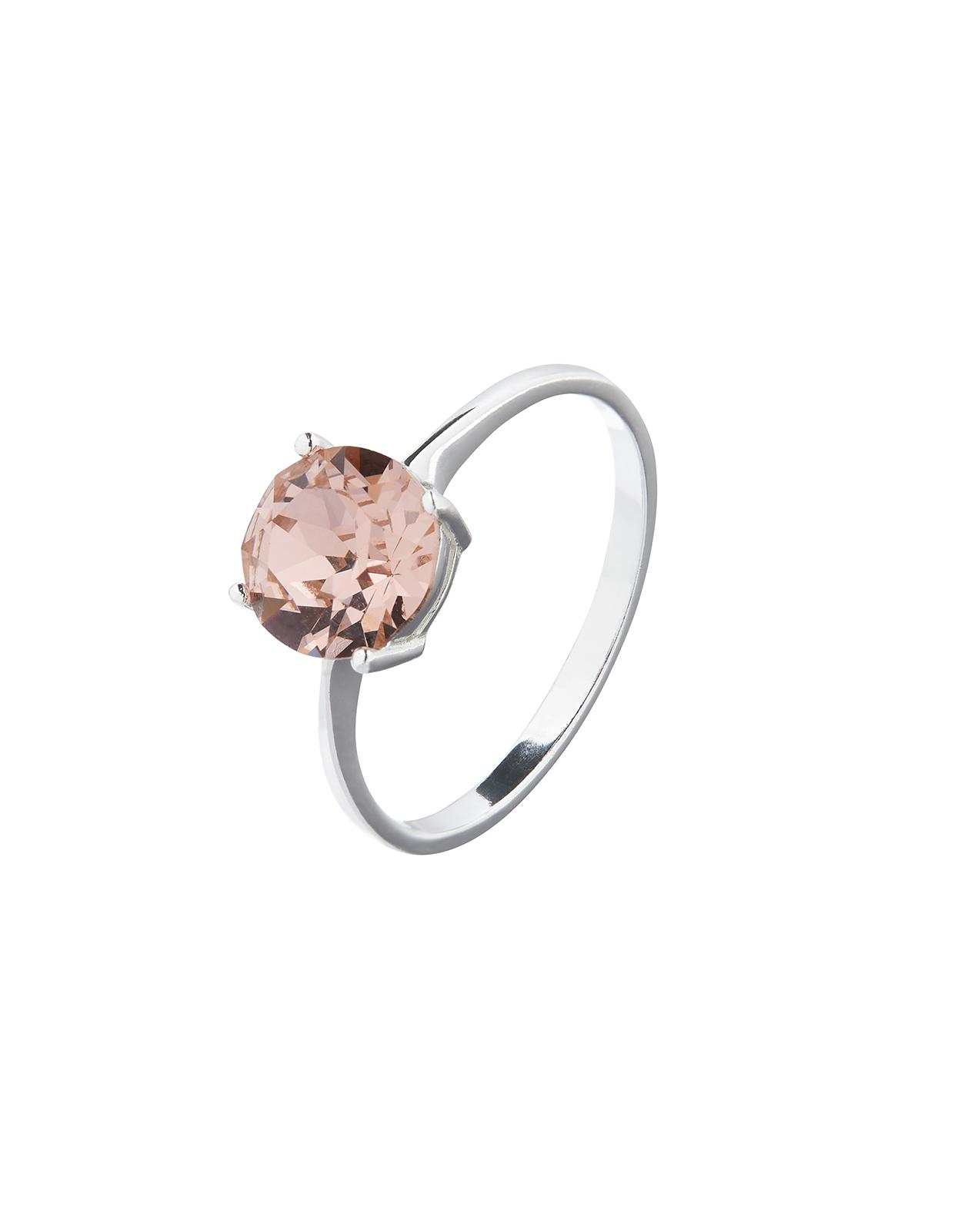 9976773f0 Accessorize Sterling Silver Large Stone Ring With Swarovski® Crystal ...