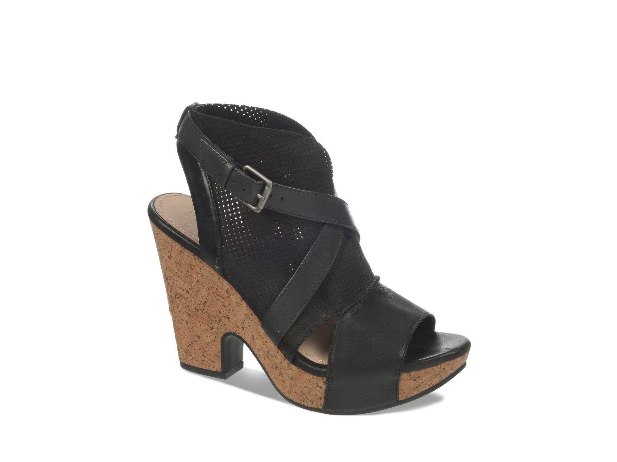 naya open toe platform sandals maple in black lyst